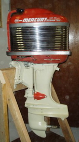 Beautiful restored outboards on display for Mercury outboard motors for sale in florida