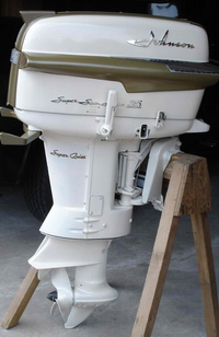 Beautiful Restored Outboards On Display